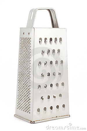 Metal grater for vegetables