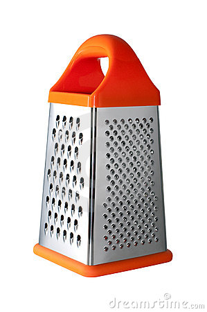 Free Metal Grater With Handle Isolated Royalty Free Stock Image - 22571436