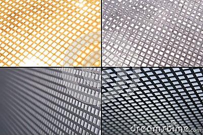 Metal grid grounds