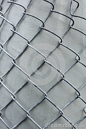 Metal grid overlaid to gray column
