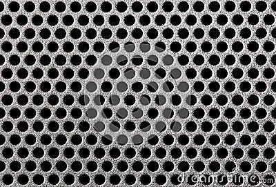 Metal grill dot pattern