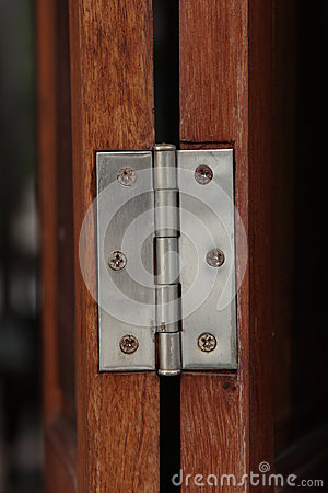 Metal hasp on window