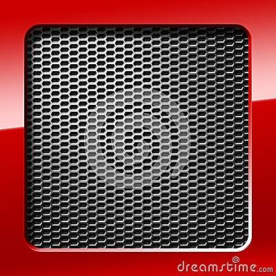 Metal honeycomb grid