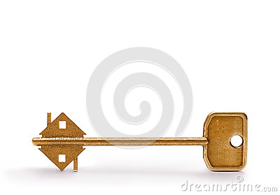 Metal house key