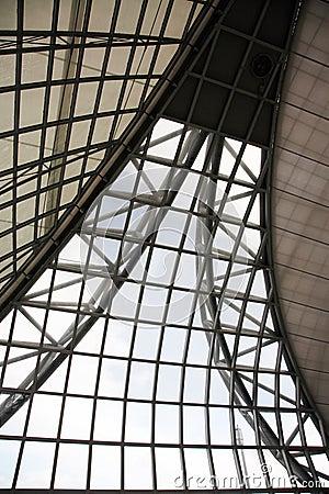 Metal indoor ceiling