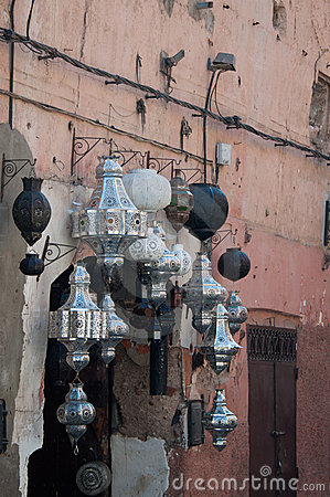 Free Metal Lamps In Moroccan Market Royalty Free Stock Images - 21597449