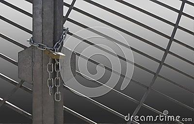 Metal lattice door