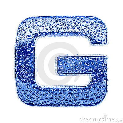 G Letter In Water letter G  Water splashes