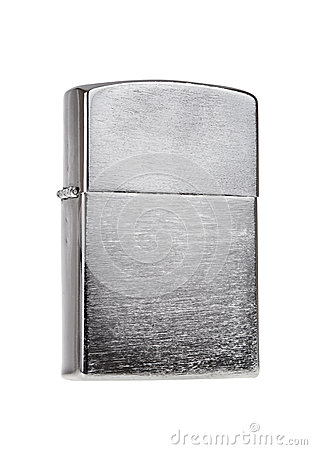 Metal lighter isolated