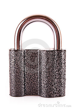 Metal lock isolated