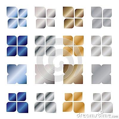 Metal logo design elements