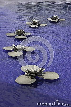 Free Metal Lotus Royalty Free Stock Photo - 14696955