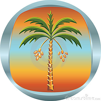Metal medallion with the date palm