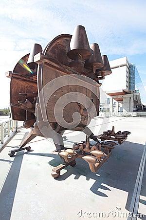 Metal modern art sculpture