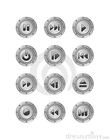 Metal music buttons set 2