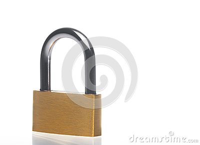 Metal padlock with space for text