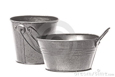 "2"" Galvanized Metal Pail Bucket - Pails, Tubs and Buckets ..."