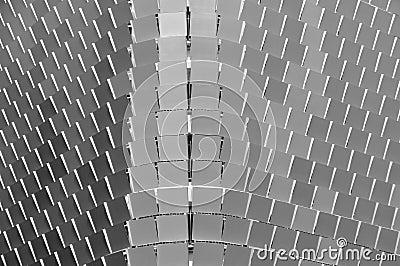 Metal panels on a public carpark