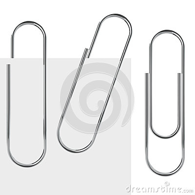 Free Metal Paperclip Royalty Free Stock Photo - 33487685