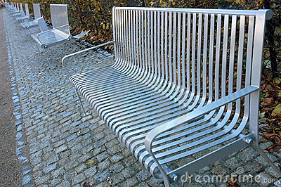 Metal park benches