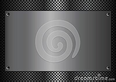Metal plaque rectangle