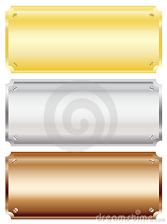Free Metal Plaques Stock Images - 11606224
