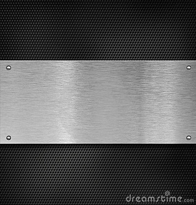 Metal plate with rivets over grate