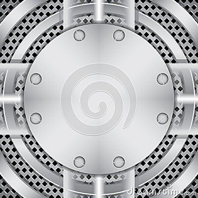 Metal plate with screws