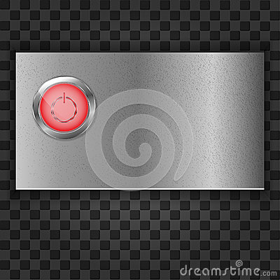 Metal plate with start button