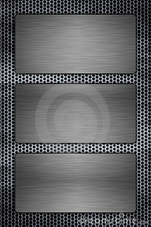 Metal plates on a metal grill