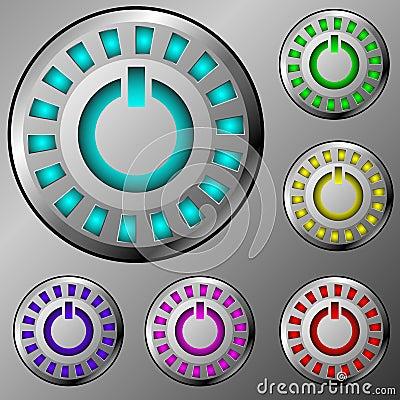 Metal power buttons