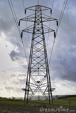 Metal power line pylon
