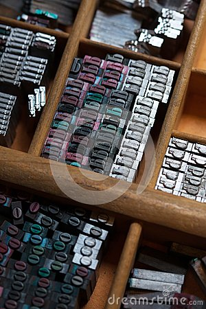 metal printing press letters stock photo image 50457859