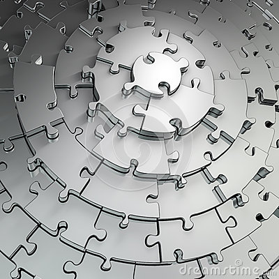 Metal puzzle background