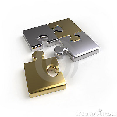 Metal puzzle connection