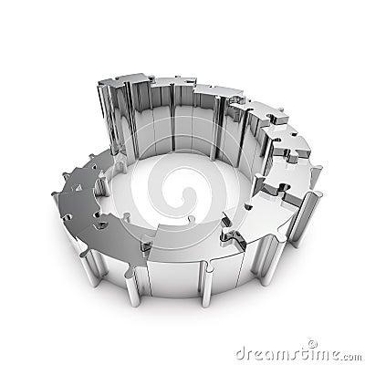 Metal puzzle steps