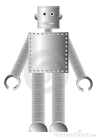 Metal Robot Royalty Free Stock Image - Image: 20772226