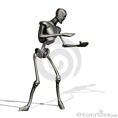 Metal robot holding