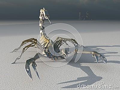 Metal robot scorpion