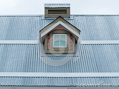 Metal Roof Small Dormer Window Architecture Detail Stock ...