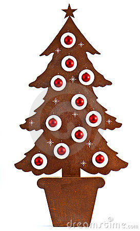 Metal rust christmas tree