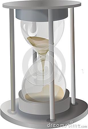 Metal sand-glass