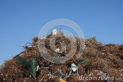 Metal scrap heap
