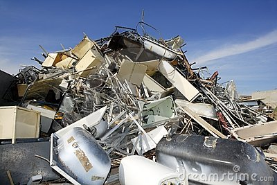 Metal Scrap Recycle Ecological Factory Environment Stock Photos - Image: 13974123