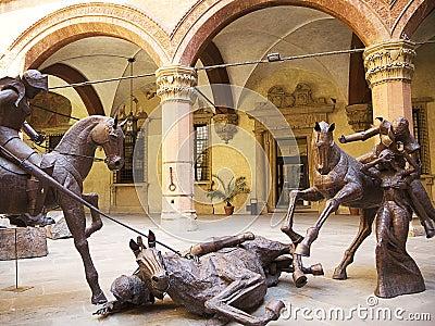 Metal Sculptures in Palazzo