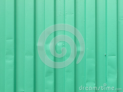 Metal sheet in green paint background