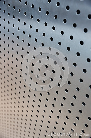 Metal sheet with holes