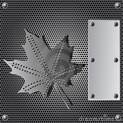 Metal shield background