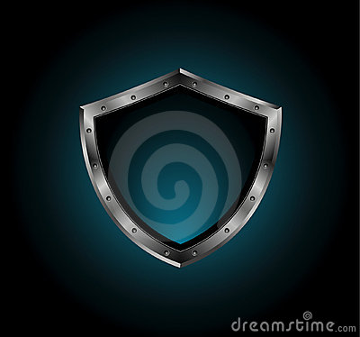 Metal shield with bolts