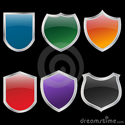 Metal shields set